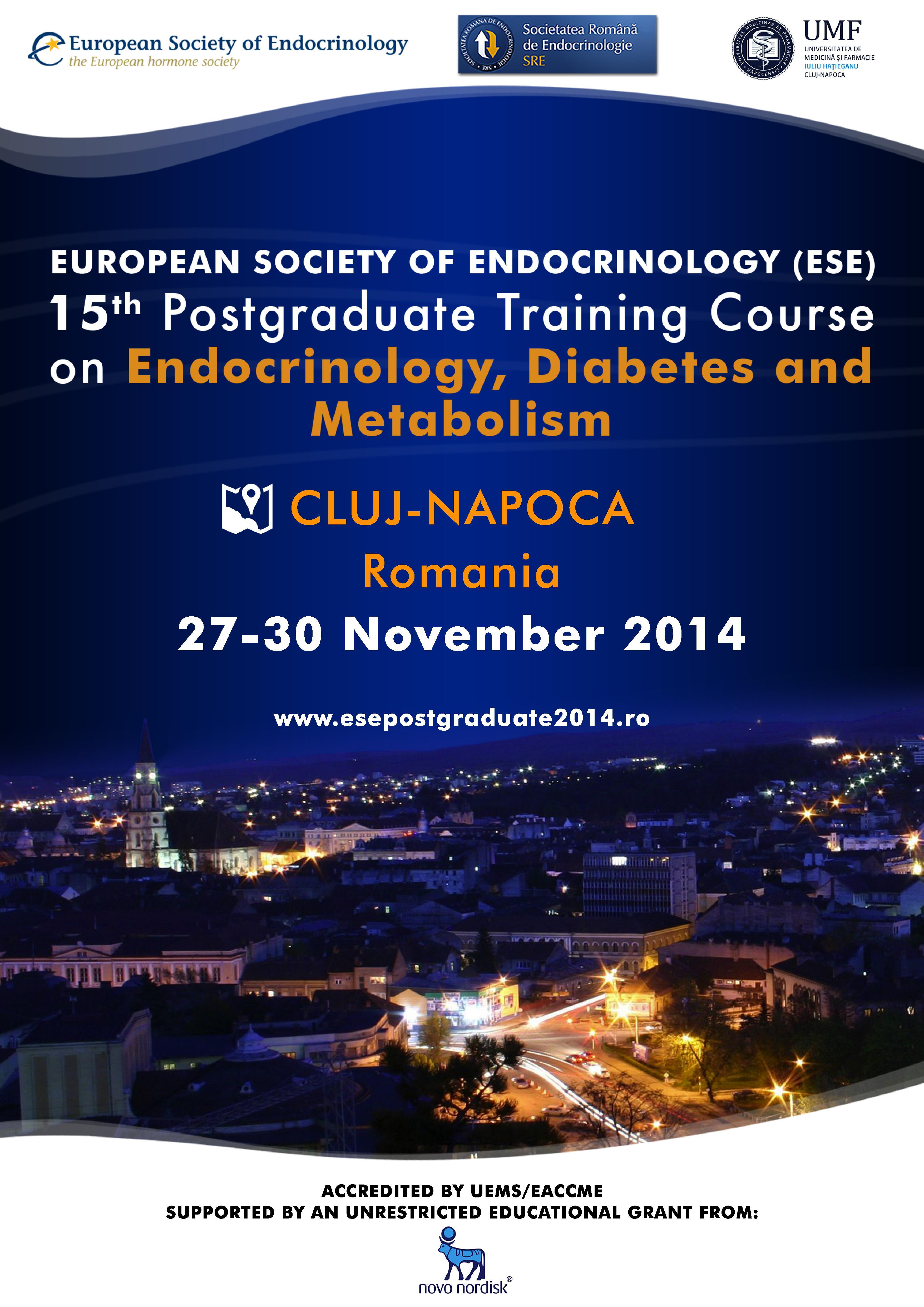 A 15-a editie a Cursului Postuniversitar al Societatii Europene de Endocrinologie (ESE)