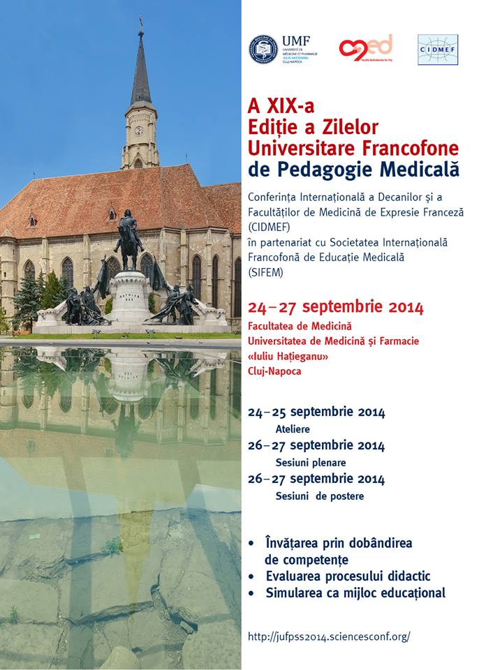 A XIX-a Editie a zilelor Universitare Fracofone de Pedagogie Medicala